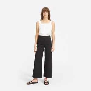 Everlane Wide Leg Chino in Washed Black NWOT